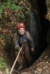 пещера октябрьская, входной колодец.